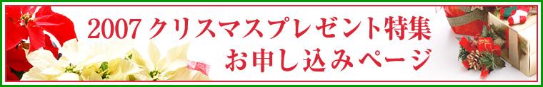2007クリスマスプレゼント特集お申し込みページ