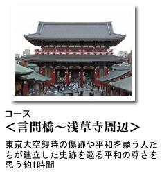 コース [言問橋~浅草寺周辺]