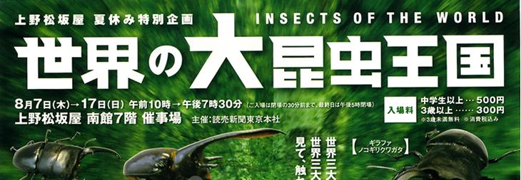 松坂屋 上野店 世界の大昆虫王国