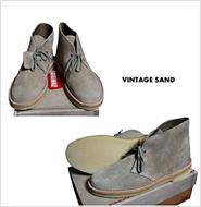 CLARKS(クラークス)  60th DESERT BOOT VINTAGE SAND(60周年記念 デザートブーツ ヴィンテージサンドスエード)