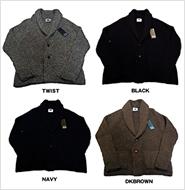 BLACK SHEEP(ブラックシープ) 09 WOOL TWO BUTTON JACKET(ウール ショールカラー ニットジャケット)2BJ24 4COLOR